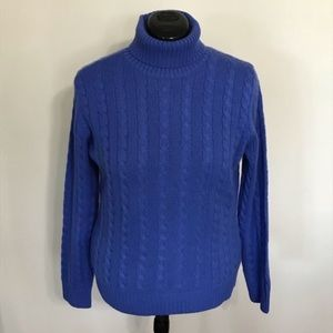 Lands' End Cashmere Sweater, Blue, L LIKE NEW